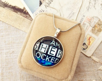 Sherlock Necklace, Sherlock Choker, 221B Necklace, Baker Street Team Necklace, Watson necklace, Holmes necklace