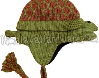 Knit Wool Turtle Hat: adult youth child girls boys womens