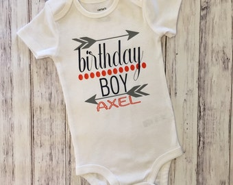1st Birthday, One, Birthday Boy, Birthday onesie, Birthday bodysuit, Birthday shirt, personalized shirt