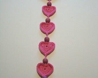 crochet heart wall hanging crochet heart home decor UK