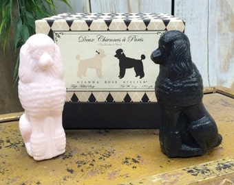 Poodle Soaps   All Natural Soap, Decorative Soap, Bath and Beauty, Bathing Beauty, Bath and Body, Pink Soap, Black Soap, Dog Shaped Soap