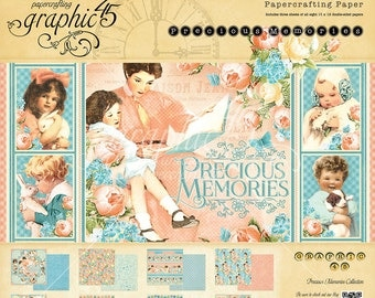 CLEARANCE SALE!  Graphic 45 Precious Memories 12x12 Paper Pad SC007456