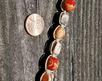 Macrame Bracelet in Oranges and Browns