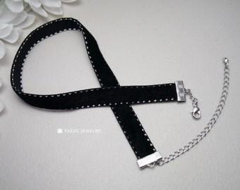 Black Velvet Choker Necklace, High Quality Velvet Necklace