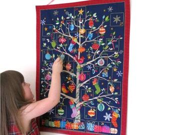 Fabric Advent Calendar - Christmas advent calendar - Christmas countdown calendar - Hanging advent calendar - Fill your own advent calendar