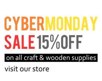 BLACK FRIDAY SALE !!! discount coupon code promo, cyber monday holiday sale wooden box beads bangles laser cut supplies crayons  cheap gifts