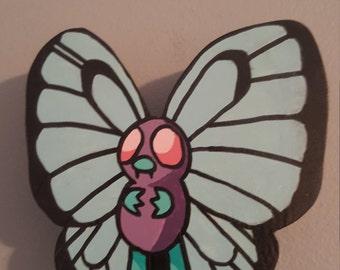 Butterfree Pokemon Wooden Wall Art [DISCOUNTED SLIGHTLY DAMAGED]