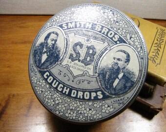 Smith Bros. Cough Drop Advertising Tin - The Tin Box Company of America