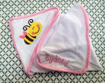 Personalized Baby Hooded Bath Towel
