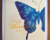 Thinking of you watercolor butterfly card