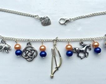 Handmade Merida (Brave) inspired necklace.