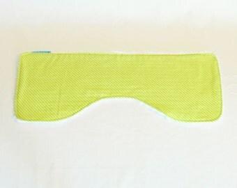 Burp Cloth| Contoured burp cloth, baby burper, spit cloth, spew cloth |Green Stripe|
