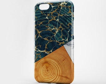 Green Marble iPhone Case iPhone 7 Wood Phone Case iPhone 7 Plus iPhone 4-5 iPhone 6 Style iPhone 6 Plus Case iPod Huawei Case Galaxy LG Case