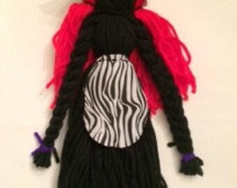 faceless,pioneer settlers yarn doll