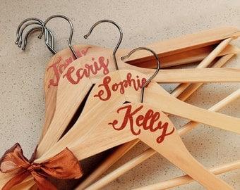Wedding Party Coat Hangers - Personalised