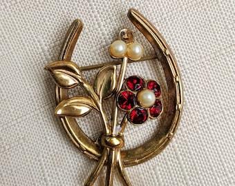 Coro Gold Flower Brooch