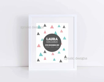Birth Announcement - Printable Only