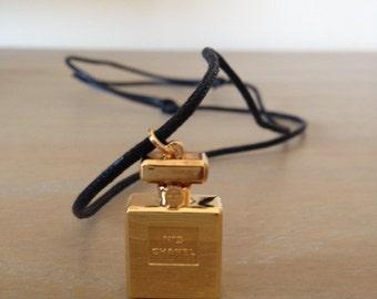 Authentic Chanel No5 Perfume Bottle Necklace