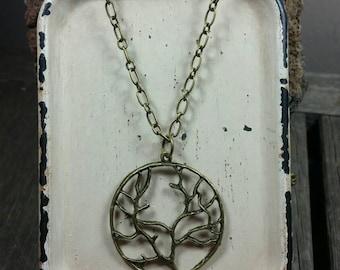 Bronze Family Tree  Necklace