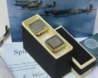 Spitfire Sterling Silver Cufflinks