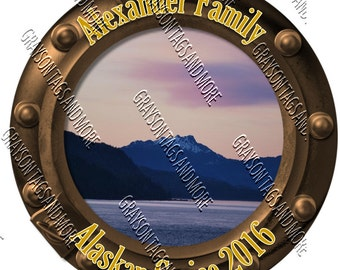 Alaska Porthole Magnet