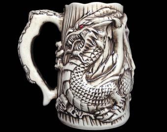 Dragon Beer Mug, Handmade Beer Tankard