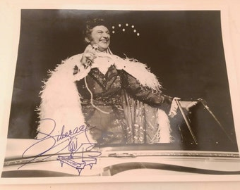 Vintage Liberace Autographed Photograph Signed with Piano