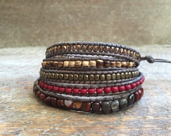 Melina Beaded Wrap Bracelet