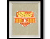 "Wheat Craft Beer Label 11x14"" print"