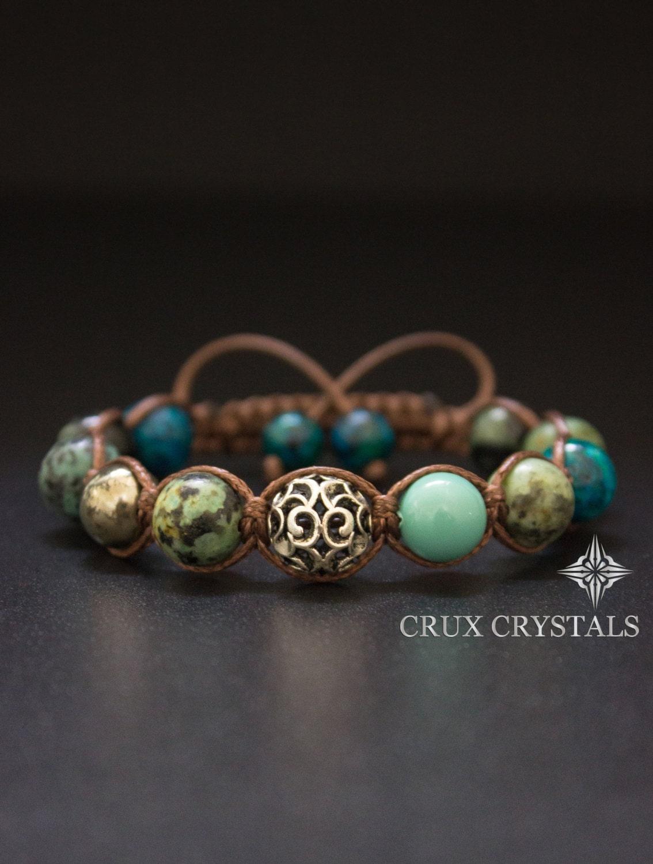 african turquoise brown macrame gemstone beaded bracelet. Black Bedroom Furniture Sets. Home Design Ideas