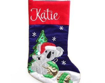 Personalised Koala Christmas Stocking