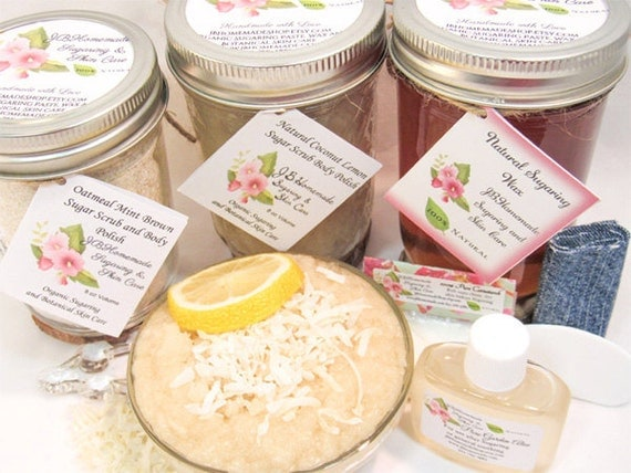 Sugaring Wax & Coconut Lemon Sugar Scrub Deluxe Bundle