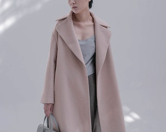 wool coat.women coat.apricot coat. winter coat, autumn coat
