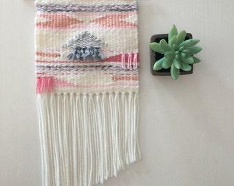 Pastel pinks- a southwestern weaving