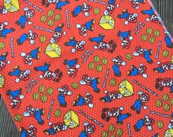 """Baby Super Mario Bros. Flannel Receiving Blanket 36""""x42"""" - Super Mario Bros. Swaddle Blanket"""