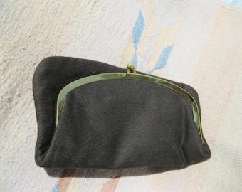 Mel- ton Wool Folding Clutch