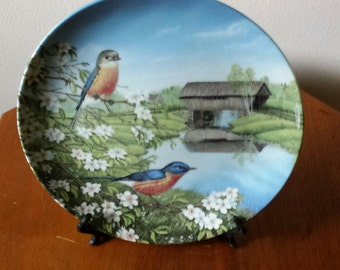 Bluebirds in Spring Limited Edition Plate