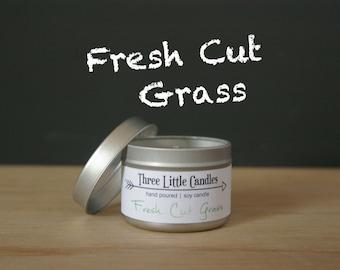 Fresh Cut Grass Soy Candle Tins - 2oz, 4oz or 8oz