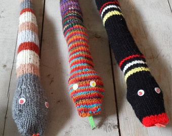 Shop Closing Clearance!! Knit toy snakes