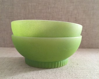 Fire King Bowls, Set of Two, Green