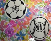 Sports decal with Monogra...