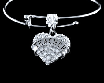 teacher gifts Teacher bracelet Teacher charm bracelet Gift for teacher Teacher jewelry