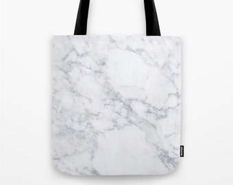 White Marble Tote Marble Tote Bag Cute Canvas Tote Marble Office tote trendy Travel bag Boss Gift Girls gift Tote bag White Marble Bag