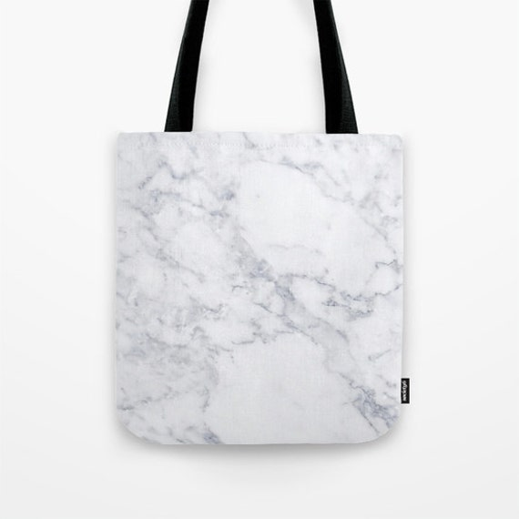 White Marble Tote Marble Tote Bag Cute Canvas Tote Marble