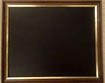 Dark Wood Framed Chalkboard / Blackboard / Notice Board / Message Board