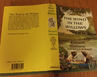 Wind In The Willows by Kenneth Grahame with 8 vintage colour plates by Ernest E H Shephard