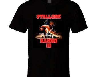 Stallone Rambo Iii Retro Movie T Shirt