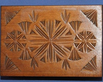 Vintage Carved Wood Trinket Box