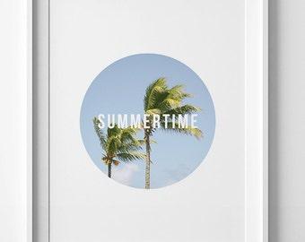 California wall art, palm tree print, downloadable prints, tree photography, printable quote, digital print, summertime print, art printable