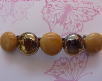 Pebble Barrette  4 inch